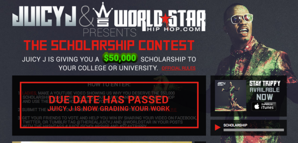 Juicy J & WorldStarHipHop.com Presents the Scholarship Contest