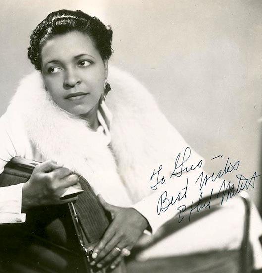 Ethel Waters in fur