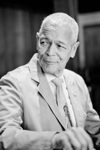 A portrait of Julian Bond by Eduardo Montes-Bradley,7 April 2012
