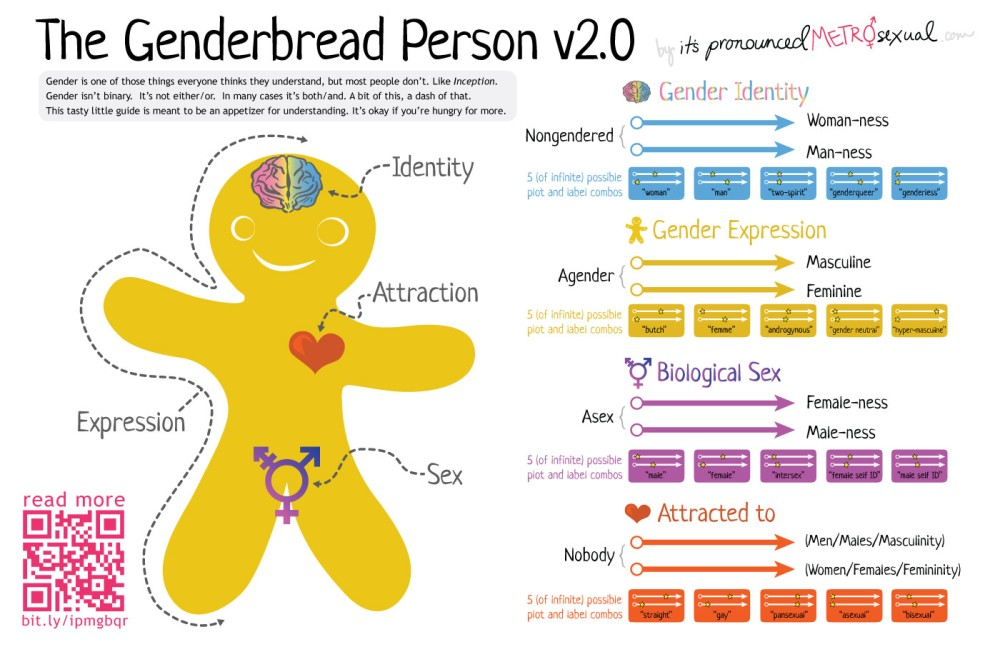 Genderbread Graphic and Continuum conceived by Sam Killermann